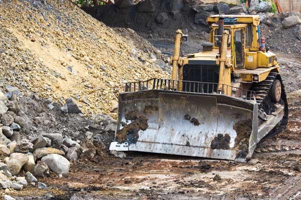 bulldozer machine site clearing work