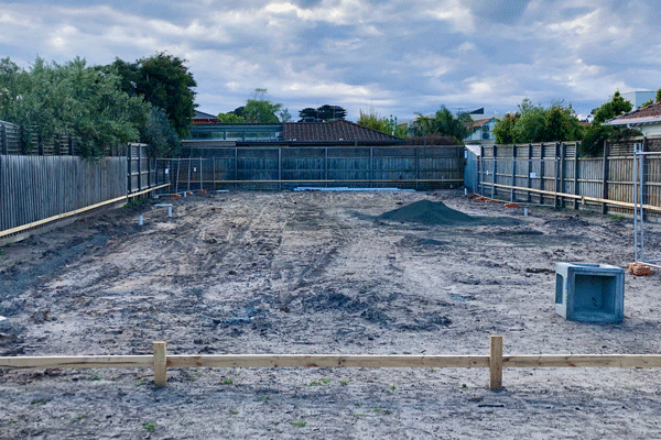 pool excavation work in commercial property