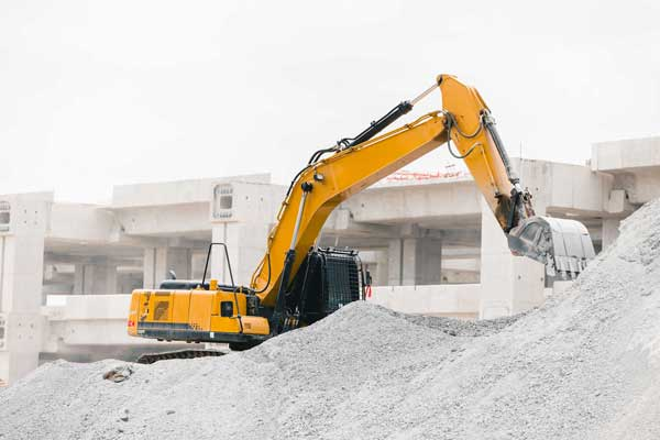 removing concrete after rock drilling works